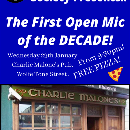 Live Music - 1st Open Mic Night of the Decade!