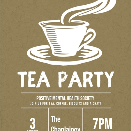Positive Mental Health - Tea Party (CANCELLED)
