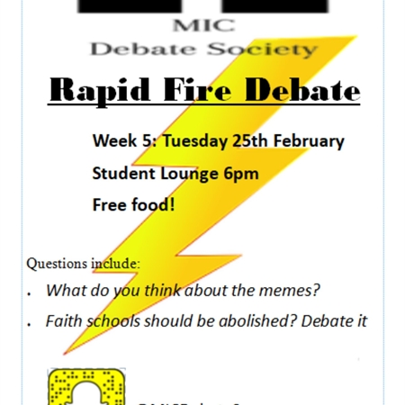 Debate - Rapid Fire Debate